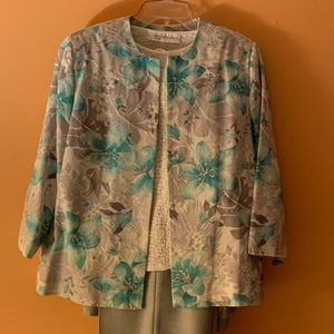 Woman's Alfred Dunner Jacket and Pants